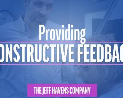 Providing Constructive Feedback