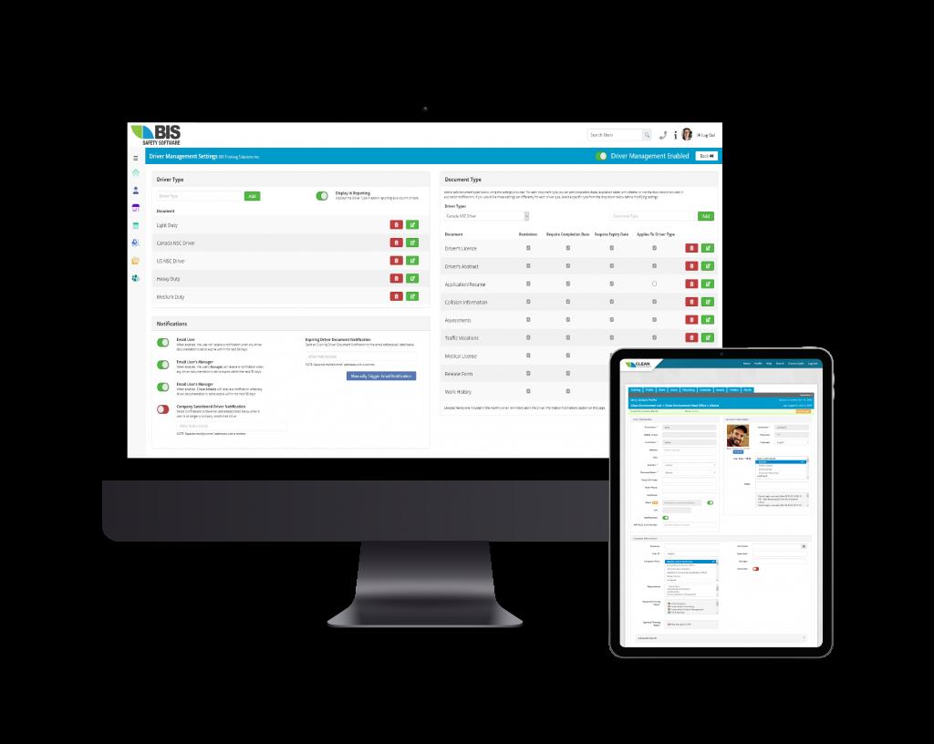 Driver management software on Desktop and tablet