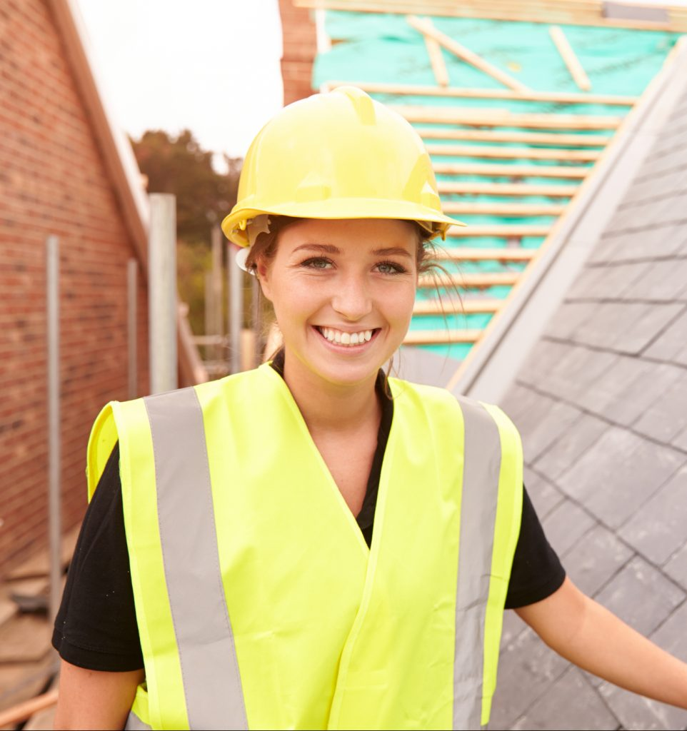 Woman engineer for safety