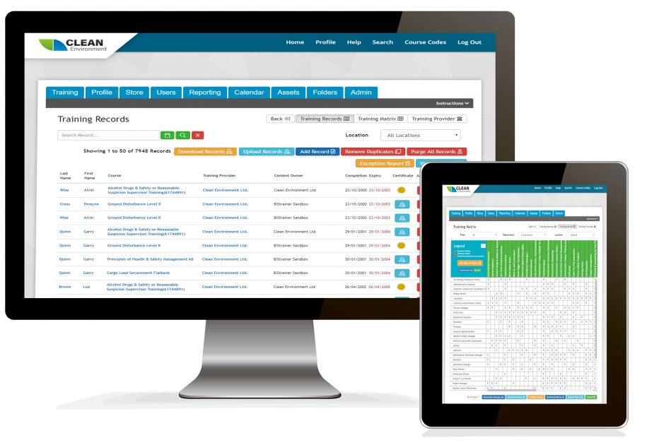 Training Record Management System